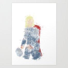 God of Thuder Colour Bomb Art Print