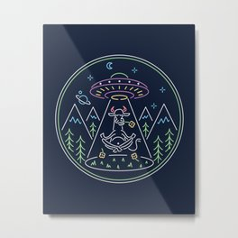 Meditation Elevation Metal Print