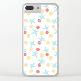 Salish Starfish in White Clear iPhone Case