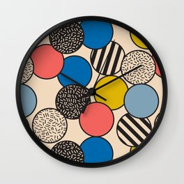 Memphis Inspired Pattern 5 Wall Clock