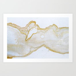 Bridger Gold Art Print