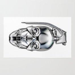 Skull grenade silver Rug