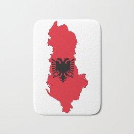Albania country flag map Bath Mat
