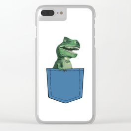 T-Rex in pocket Clear iPhone Case