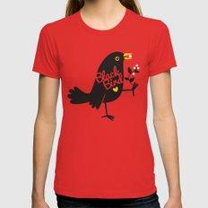 BlackBird Womens Fitted Tee MEDIUM Red