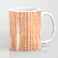 chevron Mugs featuring Stockinette Orange by Elisa Sandoval