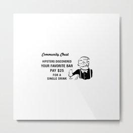 Hipster Monopoly Metal Print