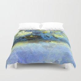 Bright Blue and Golden Pond Duvet Cover