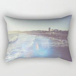 Santa Monica Beach Sunflare Prism Rectangular Pillow