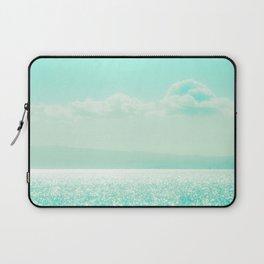Winter Aqua Sparkling Seashore Laptop Sleeve