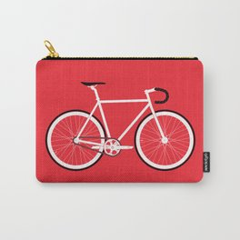 Red Fixed Gear Bike Carry-All Pouch