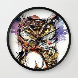 Owl Sounds Wall Clock