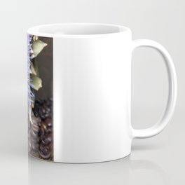 Fresh Coffee Beans & Blue Artichoke Coffee Mug