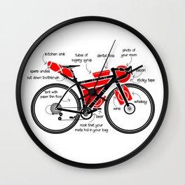 Bikepacking Wall Clock