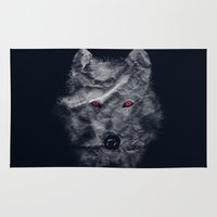 ghost Area & Throw Rugs featuring Ghost by Tobe Fonseca