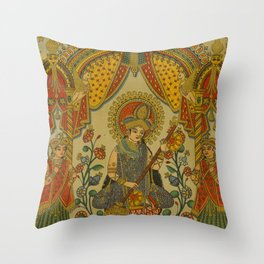 Indian Musician Throw Pillow