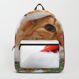 Christmas Cat Cute Kitten Kitty Meow Backpack