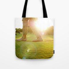 Slacklining  Tote Bag