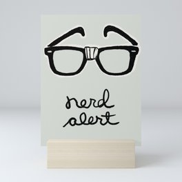 Nerd Alert Mini Art Print