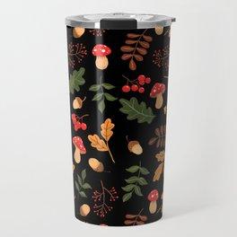 Christmas forest black Travel Mug
