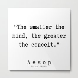 7   | Aesop Quotes | 190923 Metal Print