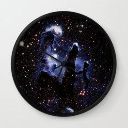 galaXY : Midnight Blue Pillars of Creation Wall Clock