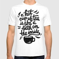 Hot Tea White Mens Fitted Tee SMALL