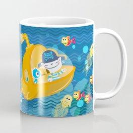 pirate cat in sub Coffee Mug
