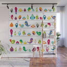 the birds are sitting and gazing... Wall Mural