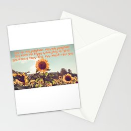 You are my sunshine #sunflowers #inspirational Stationery Cards