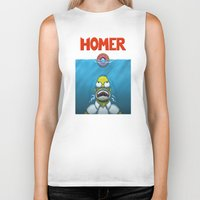 homer Biker Tanks featuring HOMER by BC Arts