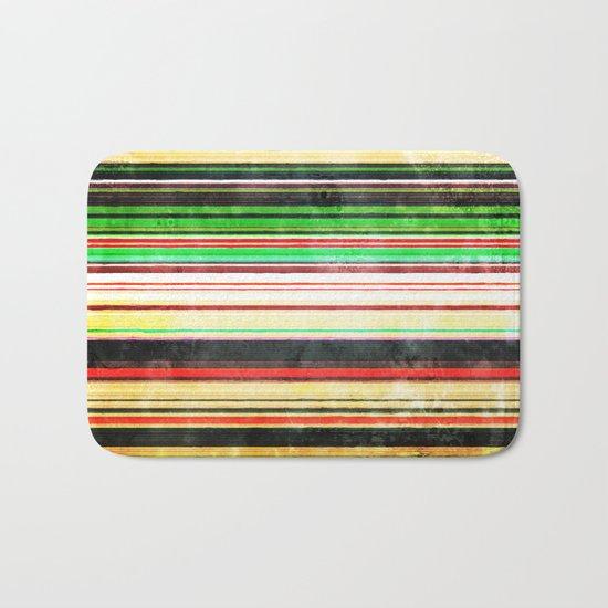Vintage Stripes Bath Mat
