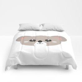 Cute friendly Koala head Comforters