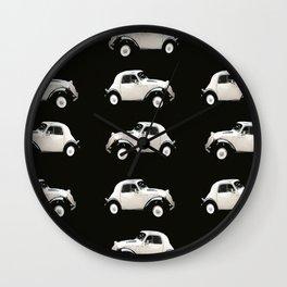 Fiat 500 Toppolino - italian vintage automobile - #society6 #buyart Wall Clock