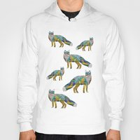 foxes Hoodies featuring Foxes by nessieness