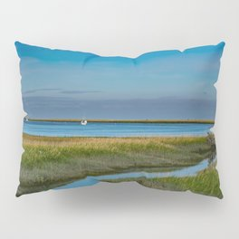 Kenai Dock/Boat Ramp with Mt._Redoubt - Alaska Pillow Sham