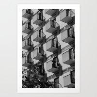 Serial balconies Art Print