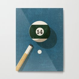 BILLIARDS / Ball 14 Metal Print