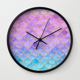 Pretty Mermaid Scales 07 Wall Clock