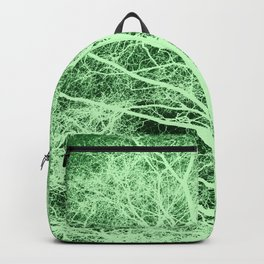 Green tree silhouette Backpack