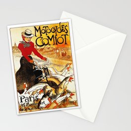 Vintage Comiot Motorcycle Ad - Paris Stationery Cards