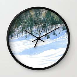The Hill Behind Work Wall Clock