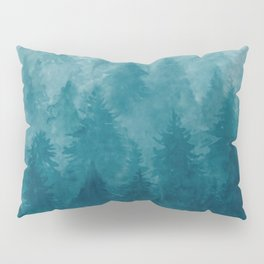 Misty Pine Forest Pillow Sham