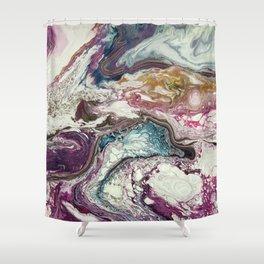 Euphoria, Pouring medium, acrylic on canvas Shower Curtain