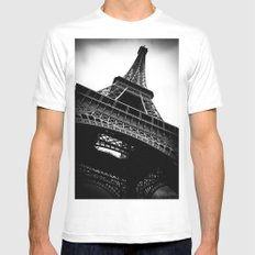 Eiffel Tower MEDIUM White Mens Fitted Tee