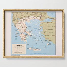 Map of Greece (1984) Serving Tray