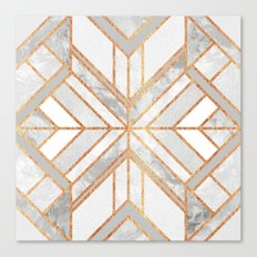 Geo Marble Dream Canvas Print
