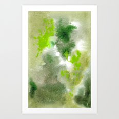 Watercolour Camo Art Print