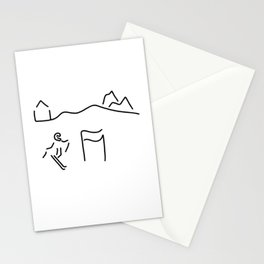 alpine skier Stationery Cards