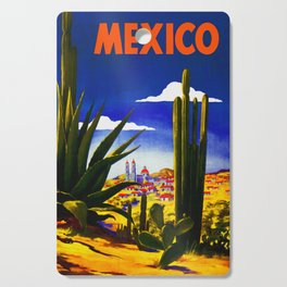 Vintage Mexico Village Travel Cutting Board